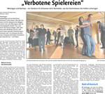 """""""Verbotene Spielereien"""" - Artikel in der Waiblinger Kreiszeitung vom 14.02.2011 über Merengue- und Bachata-Workshop im Kulturhaus Schwanen"""